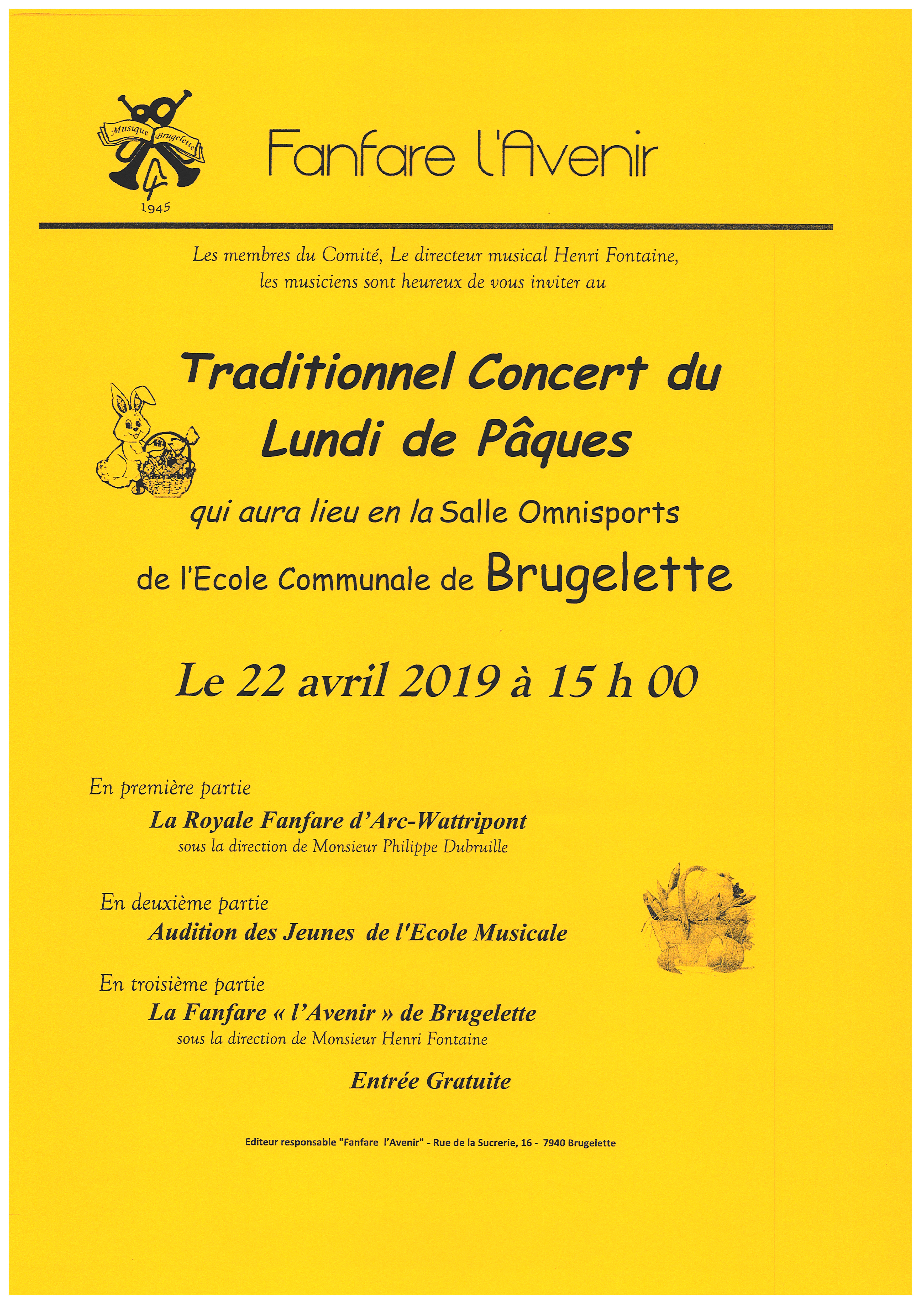 Traditionnel Concert du Lundi de Pâques